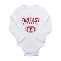 Fantasy Football (Simple) Long Sleeve Infant Bodys