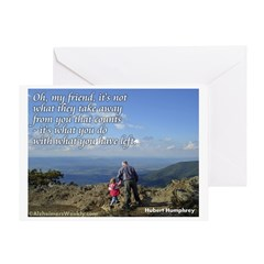 'What you do' Greeting Card