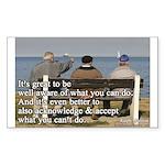 'You Can Do' Sticker (Rectangle 10 pk)