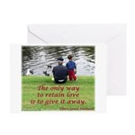 'Give Love' Greeting Card
