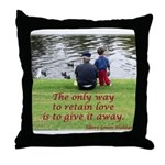 'Give Love' Throw Pillow