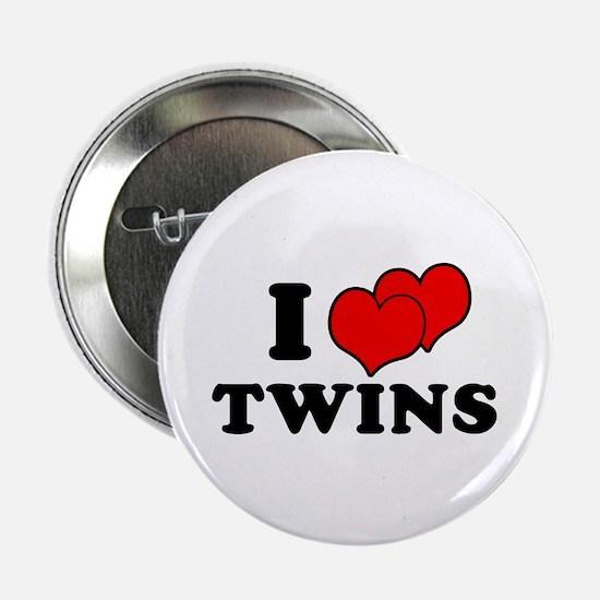 I Love Twins Button