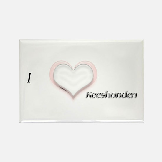 I heart Keeshonden Rectangle Magnet