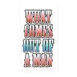 comes_out_white Sticker (Rectangle 50 pk)