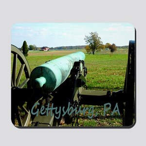 Cannon on Battlefield at Gettysburg, PA Mousepad