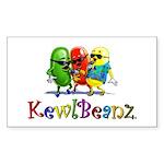 KewlBeanz Sticker (Rectangle 50 pk)