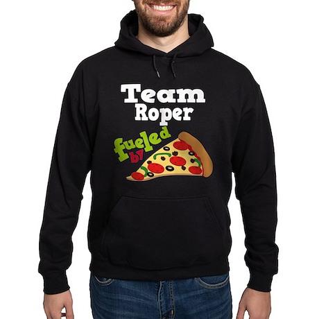 Team Roper Funny Pizza Hoodie (dark)