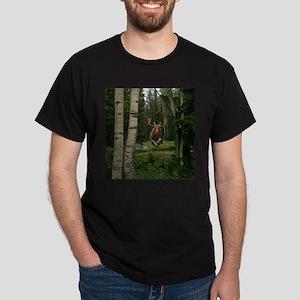 Moose at water hole Dark T-Shirt