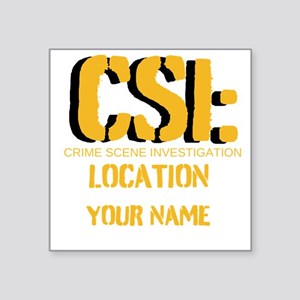 "CSI Square Sticker 3"" x 3"""