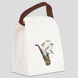 Wild Saxophone Canvas Lunch Bag