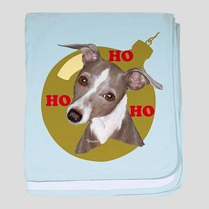 Holiday Min Pin baby blanket