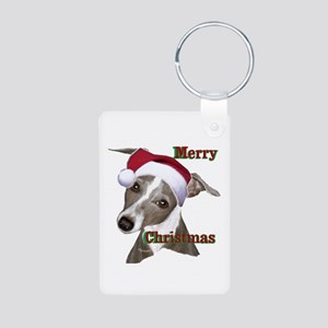 greyhound Italian greyhound Aluminum Photo Keychai