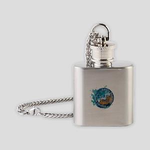 South Carolina - Edisto Beach Flask Necklace
