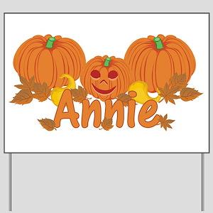 Halloween Pumpkin Annie Yard Sign