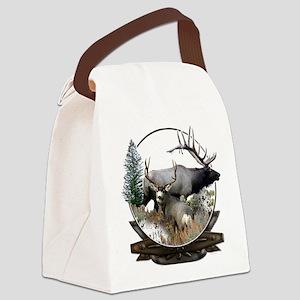 Big Game elk and deer Canvas Lunch Bag