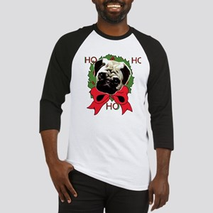 Christmas pug holiday Baseball Jersey