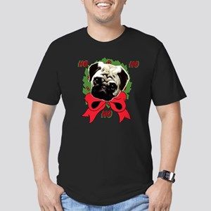 Christmas pug holiday Men's Fitted T-Shirt (dark)