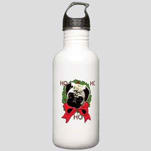 Christmas pug holiday Stainless Water Bottle 1.0L