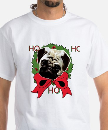 Christmas pug holiday White T-Shirt