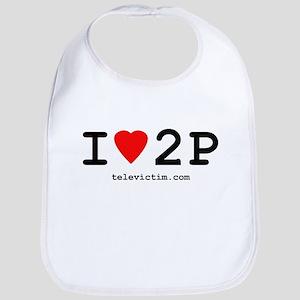 """""""I love 2P"""" Bib"""