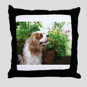 Dexter Flowers Throw Pillow