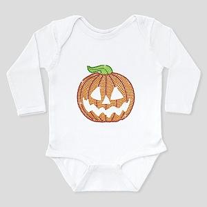 Printed Rhinestone Jackolantern Pumpkin Body Suit