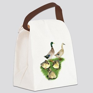Welsh Harlequin Duck Family Canvas Lunch Bag