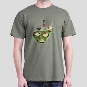 Welsh Harlequin Duck Family Dark T-Shirt