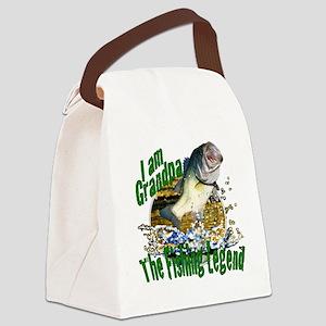 Grandpa the Bass fishing legend Canvas Lunch Bag