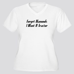 Forget Diamonds I Want A Tractor Women's Plus Size