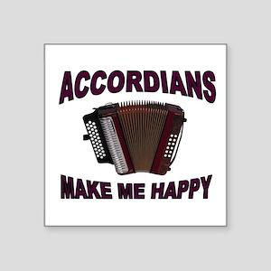 "ACCORDIANS Square Sticker 3"" x 3"""