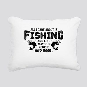 All I Care About Is Fishing Rectangular Canvas Pil