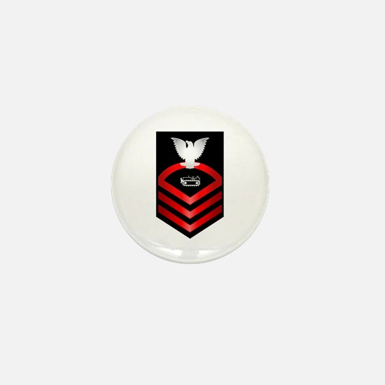 Navy Chief Equipment Operator Mini Button
