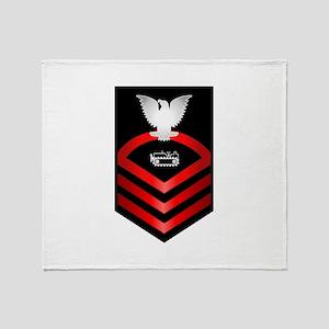 Navy Chief Equipment Operator Throw Blanket