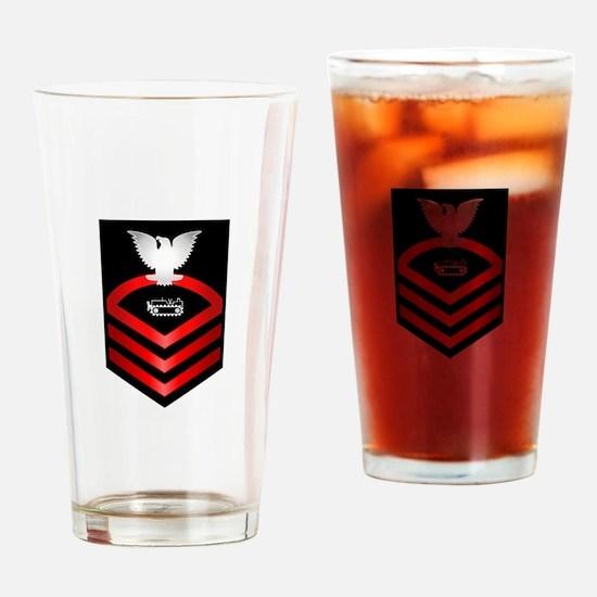 Navy Chief Equipment Operator Drinking Glass