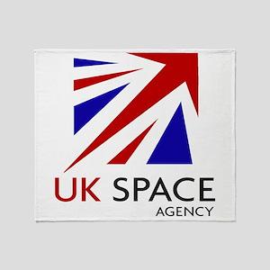 United Kingdom Space Agency Throw Blanket