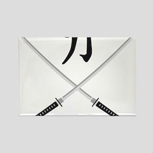 samurai sword Rectangle Magnet