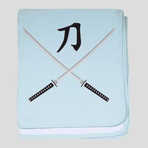 samurai sword baby blanket