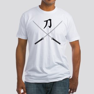 samurai sword Fitted T-Shirt