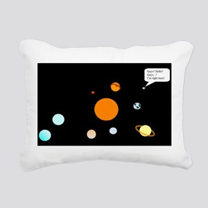 Remebering Pluto Rectangular Canvas Pillow