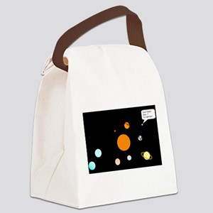 Remebering Pluto Canvas Lunch Bag