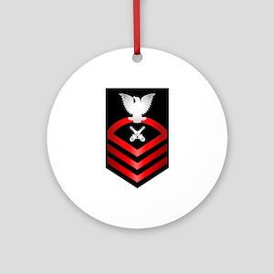 Navy Chief Gunner's Mate Ornament (Round)