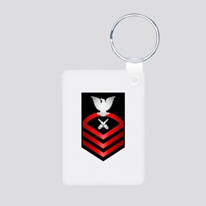 Navy Chief Gunner's Mate Aluminum Photo Keychain