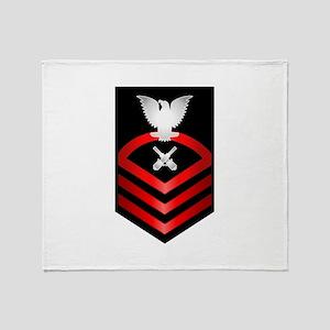Navy Chief Gunner's Mate Throw Blanket