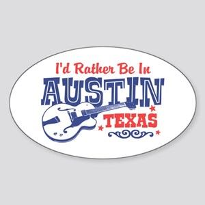 Austin Texas Sticker (Oval)