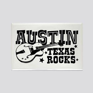 Austin Texas Rocks Rectangle Magnet