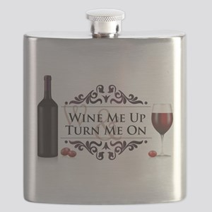 Wine Me Up and Turn Me On Flask