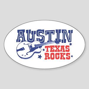 Austin Texas Rocks Sticker (Oval)