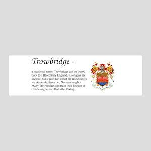 Trowbridge Surname COA 36x11 Wall Decal