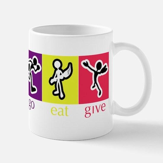 Go Eat Give logo Mug